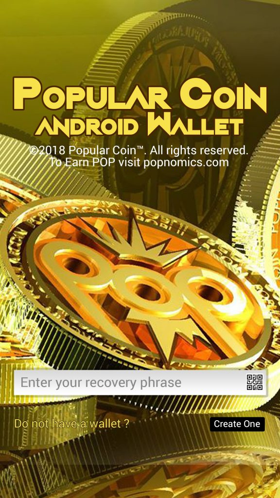 Popular Coin POP Android Wallet
