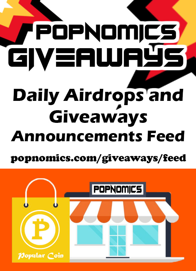 Popular Coins POPNOMICS The Social Media That Pays Giveaways Thread
